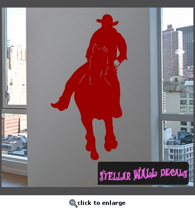 Cowboy Rodeo Sport Vinyl Wall Decal - Wall Sticker - Car Sticker RodeoST142 SWD