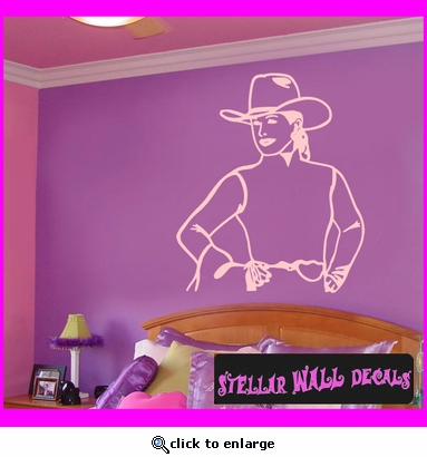 Cowboy Rodeo Sport Vinyl Wall Decal - Wall Sticker - Car Sticker RodeoSTlarge055 SWD