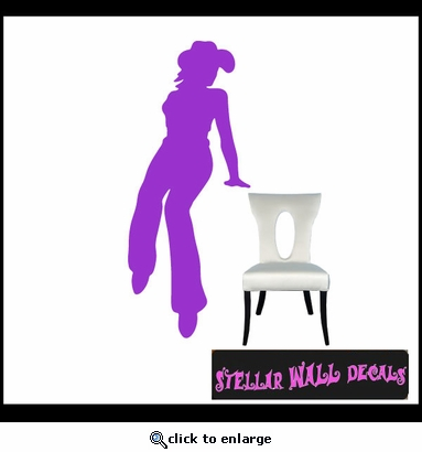 Cowgirl NS009 Wall Decal - Wall Sticker - Wall Mural SWD