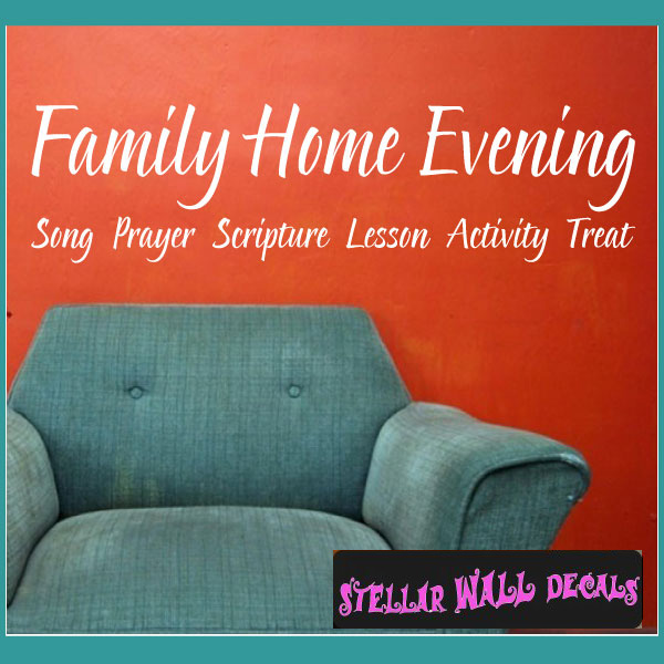 family home evening song prayer scripture lesson activity treat
