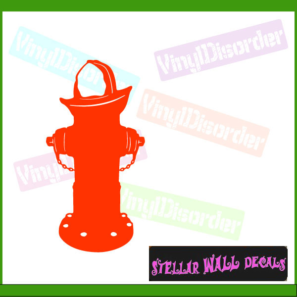 Fire hydrant ns001 wall decal wall sticker wall mural swd