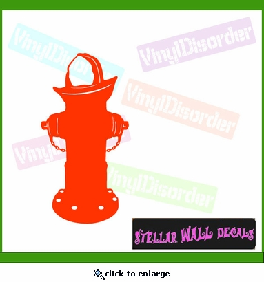 Fire Hydrant NS001 Wall Decal - Wall Sticker - Wall Mural SWD