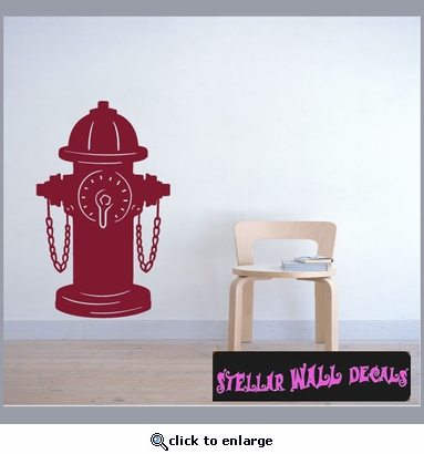 Fire Hydrant NS003 Wall Decal - Wall Sticker - Wall Mural SWD