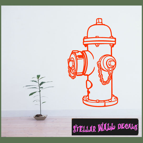 Fire hydrant ns005 wall decal wall sticker wall mural swd