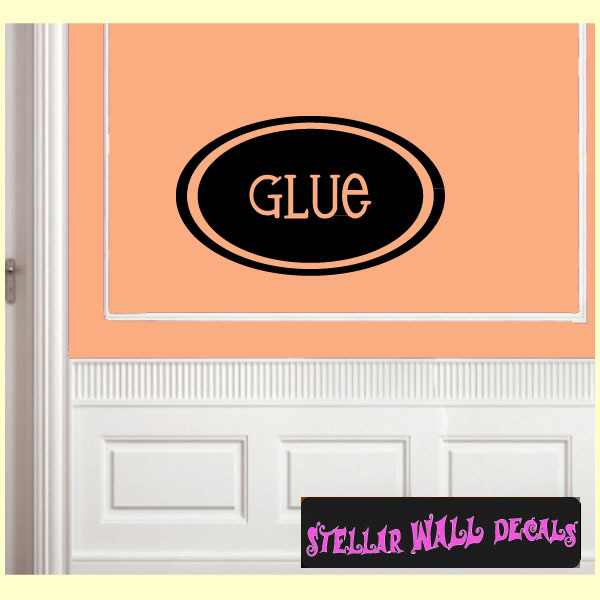 glue school craft supplies labels vinyl wall decal sticker mural