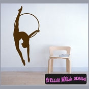 Gymnastics ST002 Sports Icon Wall Mural Vinyl Decal Sticker SWD
