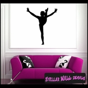Gymnastics ST005 Sports Icon Wall Mural Vinyl Decal Sticker SWD