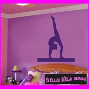Gymnastics ST007 Sports Icon Wall Mural Vinyl Decal Sticker SWD