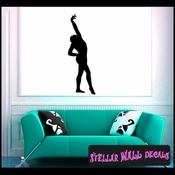 Gymnastics ST008 Sports Icon Wall Mural Vinyl Decal Sticker SWD