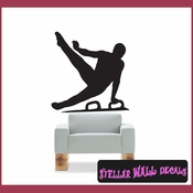 Gymnastics ST011 Sports Icon Wall Mural Vinyl Decal Sticker SWD