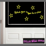 Hitch your wagon to a star Wall Vinyl Decal Sticker SWD