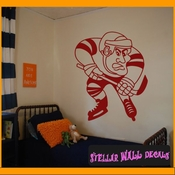 Hockey MC001 Sports Icon Wall Mural Vinyl Decal Sticker SWD
