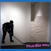 Hockey MC002 Sports Icon Wall Mural Vinyl Decal Sticker SWD