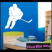 Hockey MC006 Sports Icon Wall Mural Vinyl Decal Sticker SWD