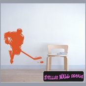 Hockey MC007 Sports Icon Wall Mural Vinyl Decal Sticker SWD