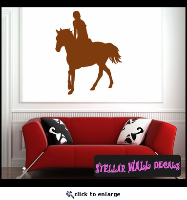 Horse Jumping NS004 Wall Decal - Wall Sticker - Wall Mural SWD