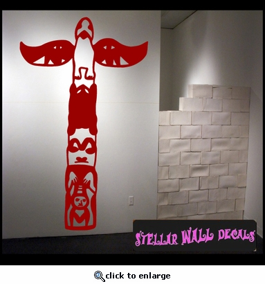 Indian Totem pole Cowboy Rodeo Sport Vinyl Wall Decal - Wall Sticker - Car Sticker RodeoSTlarge014 SWD