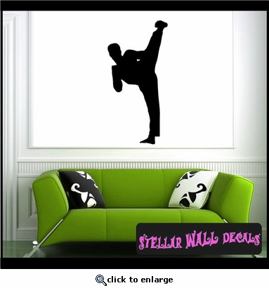 Karate ST005 Sports Icon Wall Mural Vinyl Decal Sticker