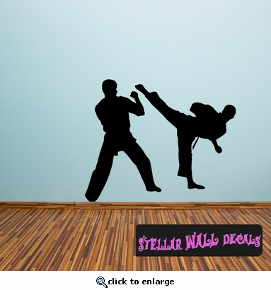 Karate ST006 Sports Icon Wall Mural - Vinyl Wall Decal - Sticker SWD