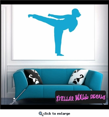 Karate ST011 Sports Icon Wall Mural Vinyl Decal Sticker