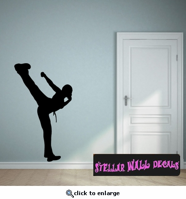 Karate ST012 Sports Icon Wall Mural - Vinyl Wall Decal - Sticker SWD