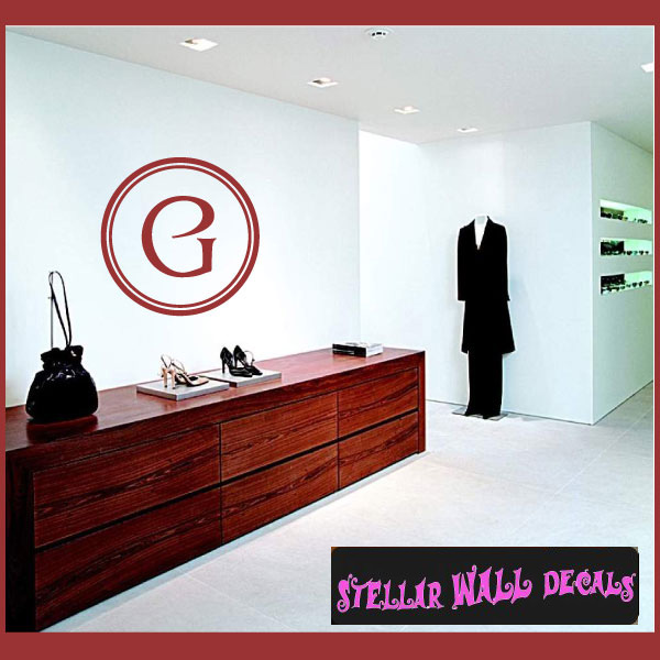 Letter G Monogram Letters Vinyl Wall Decal Sticker Mural Quotes Words Mg002g Swd