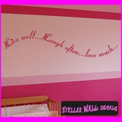 Live Well�Laugh Often�Love Much Wall Vinyl Decal Sticker SWD