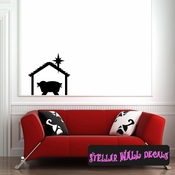 Manger of Christ Christmas Holiday Wall Decals - Wall Quotes - Wall Murals CP109 SWD
