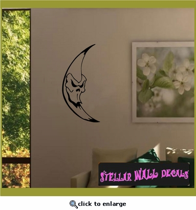 Moon Moons Full Crescent Waxing Waning Gibbous Vinyl Wall Decal - Wall Mural - Car Sticker MoonsCF12022 SWD