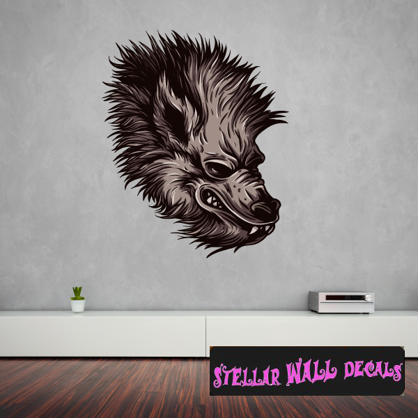 mythical creature werewolf wall decal - wall fabric - repositionable