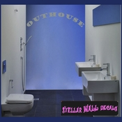 Outhouse Wall Quote Mural Decal SWD
