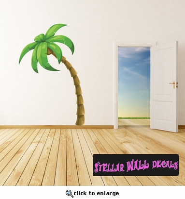 Palm Tree Wall Decal - Wall Fabric - Repositionable Decal - Vinyl Car Sticker - usc001