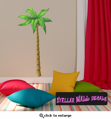 Palm Tree Wall Decal - Wall Fabric - Repositionable Decal - Vinyl Car Sticker - usc003