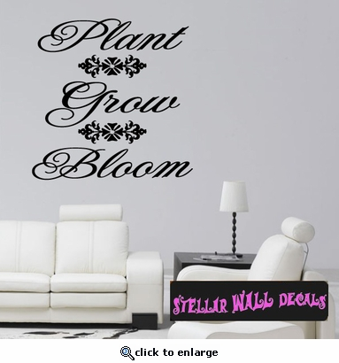 Plant Grow Bloom Spring Holiday Wall Decals - Wall Quotes - Wall Murals HD090 SWD