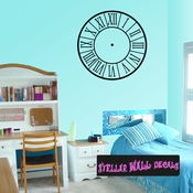 Roman Numerals Clock Faces Face Wall Decals - Wall Quotes - Wall Murals CF001 SWD