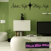 Silent Night Holy Night Christmas Holiday Wall Decals - Wall Quotes - Wall Murals HD029 SWD