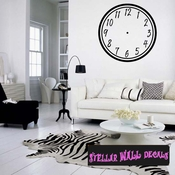 Simple numbers Clock Faces Face Wall Decals - Wall Quotes - Wall Murals CF002 SWD