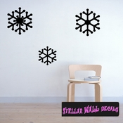 Snow Flakes Christmas Holiday Wall Decals - Wall Quotes - Wall Murals CP031 SWD