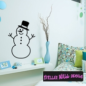 Snowman Christmas Holiday Wall Decals - Wall Quotes - Wall Murals CP035 SWD