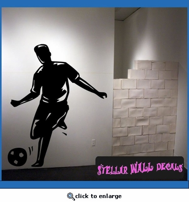 Soccer MC008 Sports Icon Wall Mural Vinyl Decal Sticker