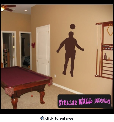 Soccer ST007 Sports Icon Wall Mural Vinyl Decal Sticker SWD
