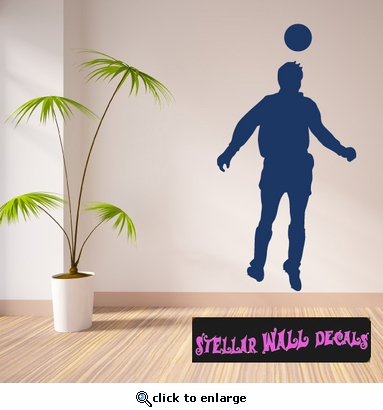 Soccer ST007 Sports Icon Wall Mural - Vinyl Wall Decal - Sticker SWD