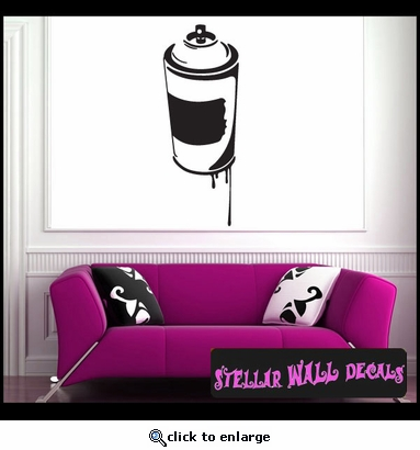 Paint Can Vinyl Wall Decal Wall Sticker Car Sticker - Custom vinyl decal application spray