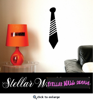 Tie stripes fashion Scriptural Christian Wall Decals - Wall Quotes - Wall Murals ARTII8X SWD