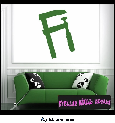 Tools Bar Clamp NS001 Wall Decal - Wall Sticker - Wall Mural SWD