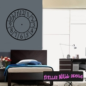 Wall clocks simple number Clock Faces Face Wall Decals - Wall Quotes - Wall Murals CF009 SWD