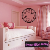 Wall clocks with butterflies Clock Faces Face Wall Decals - Wall Quotes - Wall Murals CF006 SWD