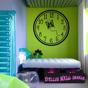 Wall clocks with butterfly butterflies Clock Faces Face Wall Decals - Wall Quotes - Wall Murals CF005 SWD