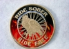 Biker's Red and Black Bronze Medallion