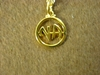 "NA 5/8"" Gold Plate Pendant with Chain"